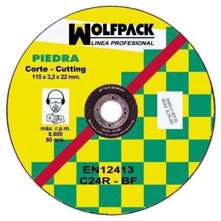DISCO WOLFPACK PIEDRA 115X3,2X22