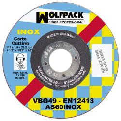 DISCO WOLFPACK INOXIDABLE 115X1,6X22,2