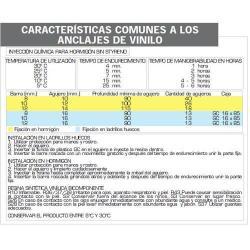 ANCLAJE QUIMICO VINILO MAURER TCA - 400V