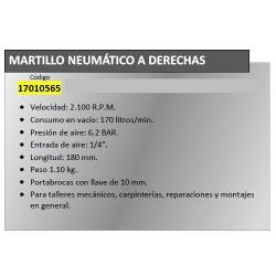 TALADRO NEUMATICO YAMATO A DERECHAS.  10MM.