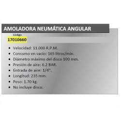 AMOLADORA NEUMATICA ANGULAR YAMATO 100 MM.