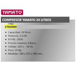 COMPRESOR YAMATO           24 LT.   HP 2.