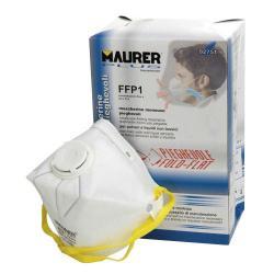 MASCARILLA MAURER PLEGABLE FFP1 CON VALVULA  (CAJA 10)