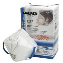MASCARILLA MAURER PLEGABLE FFP2 . CON VALVULA  (CAJA 10)