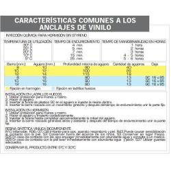 ANCLAJE QUIMICO VINILO MAURER TCA - 300V