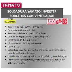 SOLDADURA YAMATO INVERTER FORCE 165