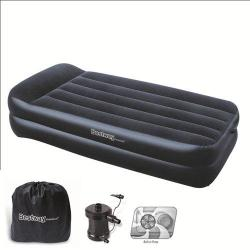 CAMA INFLABLE INDIVIDUAL CON BOMBA EXTERIOR 220V 191X97X46