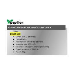 ASPIRADOR SOPLADOR PAPILLON GASOLINA 26 C. C.