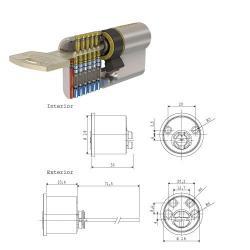 CILINDRO TESA SEGURIDAD T10 P5TS /RF/LC REDONDO