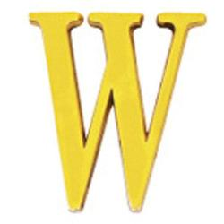 LETRA WOLFPACK W LATON 10CM + TORNILLO - BLISTER 1 PIEZA