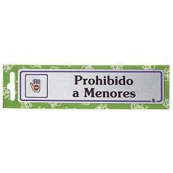 ROTULO PROHIBIDO A MENORES