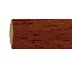 BARRA MADERA LISA 2,1 METROS X 28 MM.  NOGAL