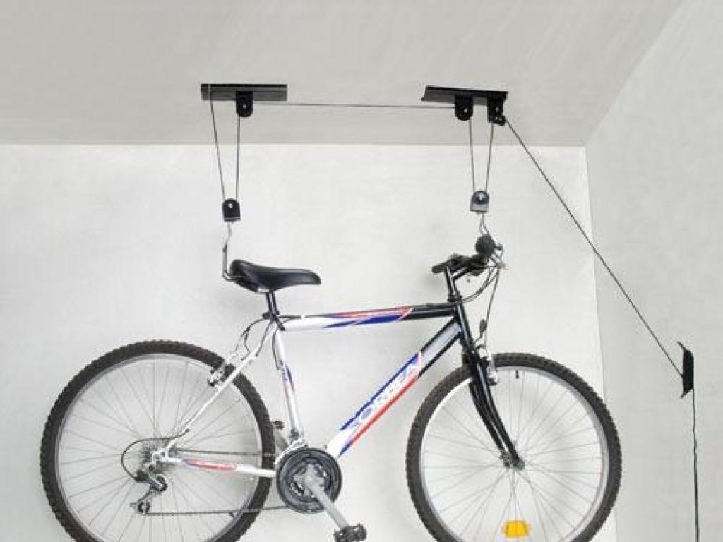 Soporte Para Colgar Bicicleta A Techo Con Poleas Aft # Muebles Bicicleta