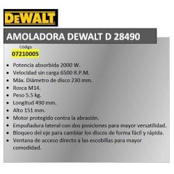 AMOLADORA DEWALT 2000 W.  D28490