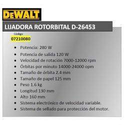 LIJADORA DEWALT ROTORBITAL D26453QS