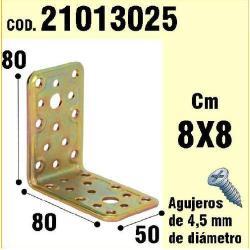 SOPORTE PARA MADERA ÁNGULO 50X 80X 80