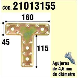 SOPORTE PARA MADERA PLACA T  BICROMATADO 160 MM
