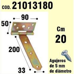 SOPORTE PARA MADERA BISAGRA BICROMATADO 200 MM
