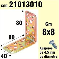 SOPORTE PARA MADERA ANGULO  40X 80X 80