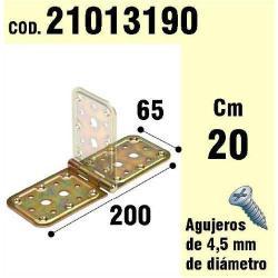 SOPORTE PARA MADERA BISAGRA BICROMATADO 65X200