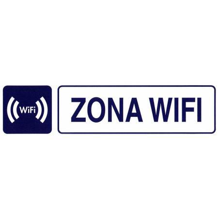 ROTULO ADHESIVO 250X63MM ZONA WIFI