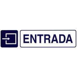 ROTULO ADHESIVO 250X63MM ENTRADA