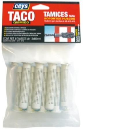 TAMIZ TACO QUIMICO CEYS 13X85 MM(PAQUETE 8 UND)