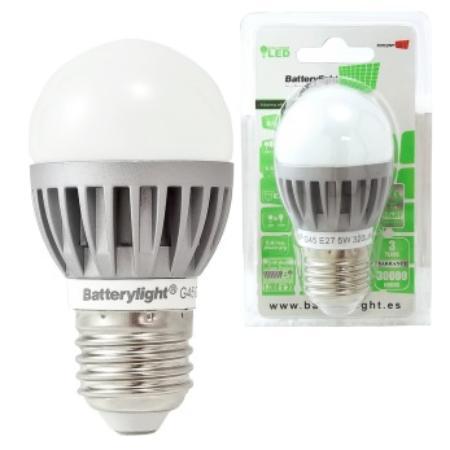 BATTERYLIGHT BOMBILLA LED G45 E27 5W 6500K