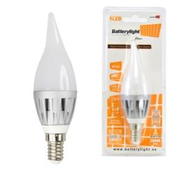 BATTERYLIGHT BOMBILLA LED C37 E14 4W 3700W