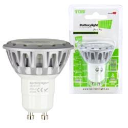BATTERYLIGHT LED SPOT LIGHT 5W 280LM GU10 CW