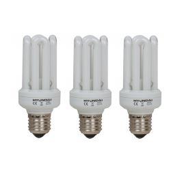 HYUNDAI PACK 3 LAMPARA BAJO CONSUMO 15W E27 4200K