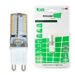 BATTERYLIGHT LED BIPIN G9 3W 250LM WW