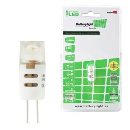 BATTERYLIGHT LED  BIPIN G4 1,5W 180 LM WW