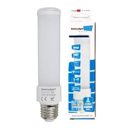 BATTERYLIGHT LED DOWNLIGHT 8W 500LM G24D3 CW