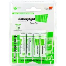BATTERYLIGHT BATERIA ECORECARGABLE AA (PACK 4)