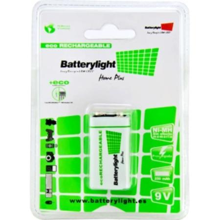 BATTERYLIGHT BATERIA ECORECARGABLE 9V