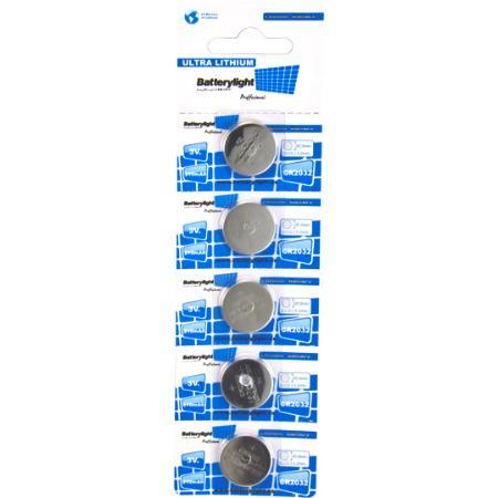 BATTERYLIGHT PILA BOTÓN ULTRA LITHIUM CR2032 (PACK 5 UNDS)