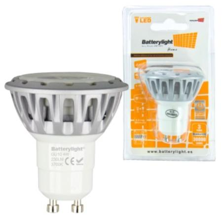BATTERYLIGHT LED SPOT LIGHT 4W 230LM GU10 CW