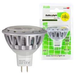 BATTERYLIGHT LED SPOT LIGHT 12V 5W 280LM MR16 WW