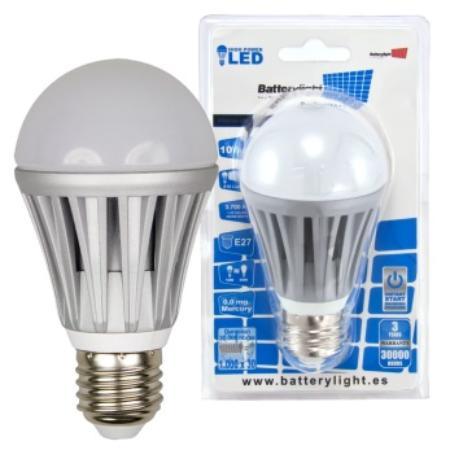 BATTERYLIGHT LED A60 10W 810LM E27 WW