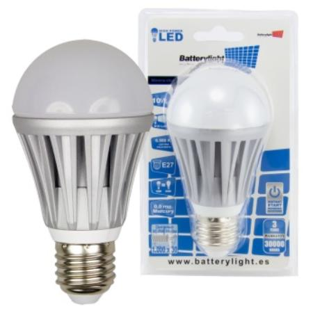 BATTERYLIGHT LED A60 10W 810LM E27 CW