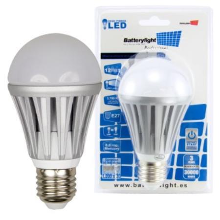 BATTERYLIGHT LED A70 12W 1050LM E27 CW
