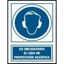 CARTEL 210X297 USO OBLIGATORIO PROTECCION ACUSTICA