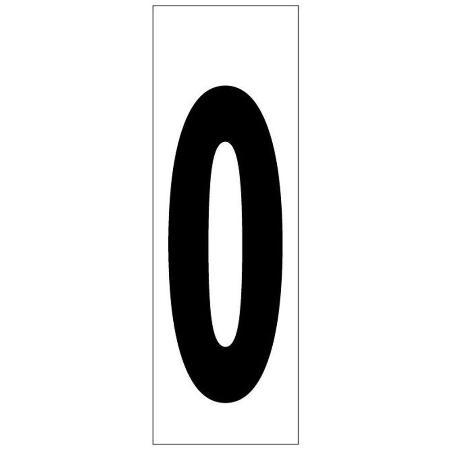 NUMERO ADHESIVO 46X140 MM.    Nº 0