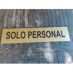 CARTEL SOLO PERSONAL  80X20 CMS