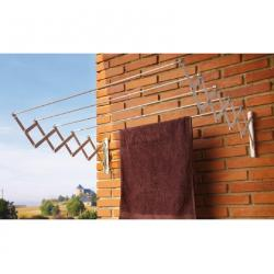 TENDEDERO EXTENSIBLE PARED ALUMINIO BLANCO 100 CMS