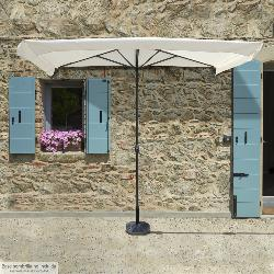 SOMBRILLA JARDIN A PARED 230 X 130 X 254  (ALT. ) CM.  COLOR BEIGE