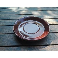 RETRO PLATO TAZA MARRON CHOCOLATE 135 MM