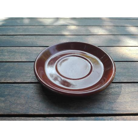 RETRO PLATO TAZA CAFE MARRON 125 MM