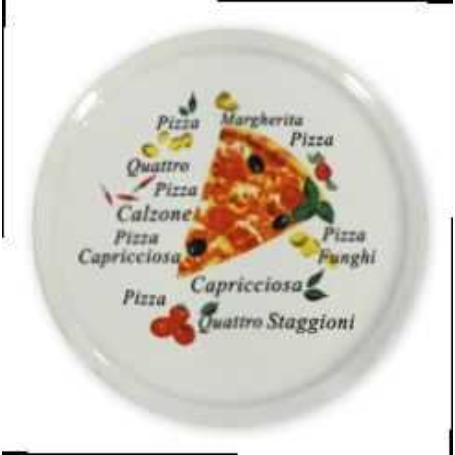 ALAR PLATO PIZZA DECORADO 5041 30 CMS